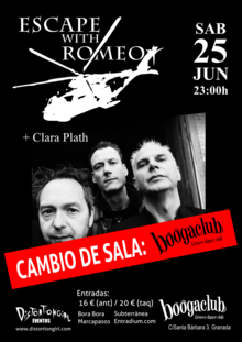 Escape with Romeo + Clara Plath en BoogaClub, Granada