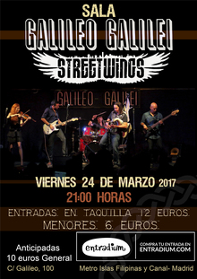 Street Wings en Galileo Galilei (Madrid)