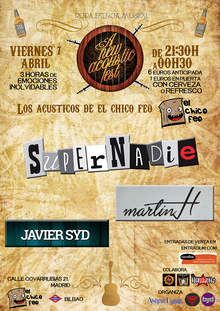 A New Label Acustic Fest. Supernadie+Martin H+Javier Syd