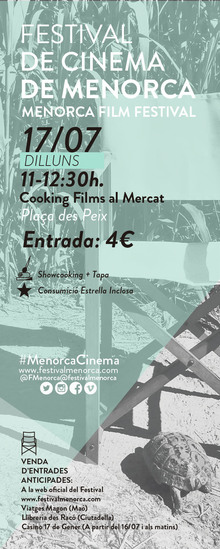 Festival de Cinema de Menorca - Cooking Films al Mercat