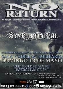 No Return + Invitados en Madrid