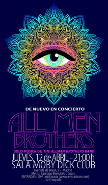 ALL MEN BROTHERS (solo música de The Allman Brothers Band) de nuevo en concierto