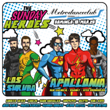 THE SUNDAY HEROES MDC :: 18 MARZO :: APOLLONIA + LOS SURUBA + LOCAL HEROES